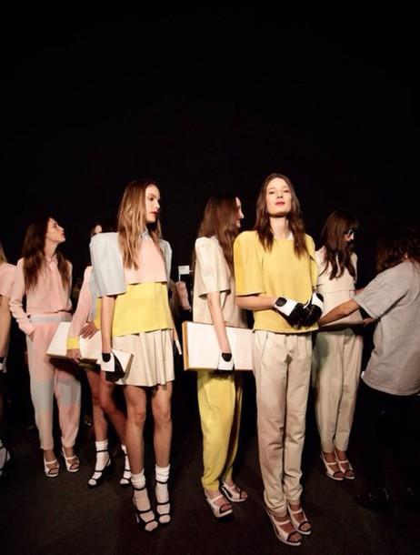 dress pink yellow nude beige collection brand heels