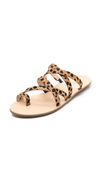 Loeffler randall sarie haircalf strappy flat sandals