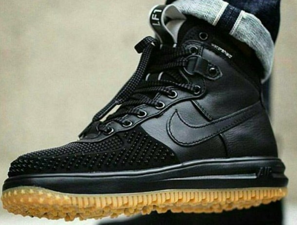 Nike Air Force Black High Tops
