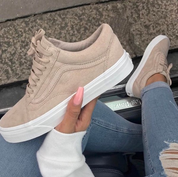 e383eac1212b shoes vans nails tan suede old school low vans suede sneakers suede shoes  womens vans tan.