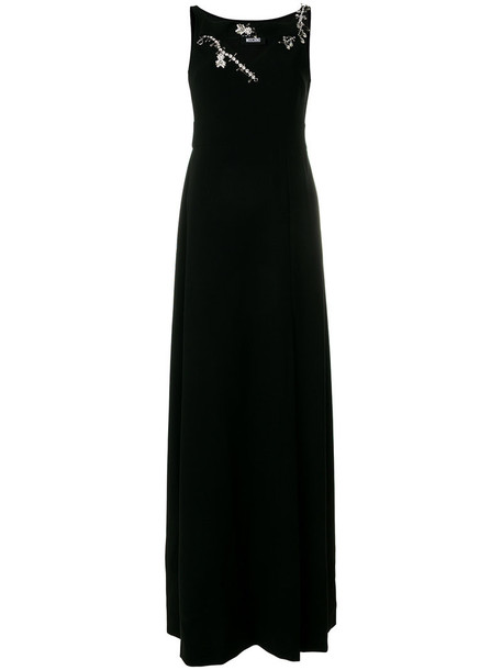BOUTIQUE MOSCHINO gown women embellished black dress