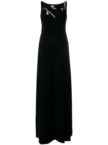 gown women embellished black dress