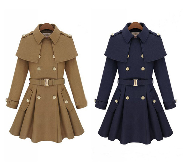 jacket trench coat wool europe elegant boho chic coat