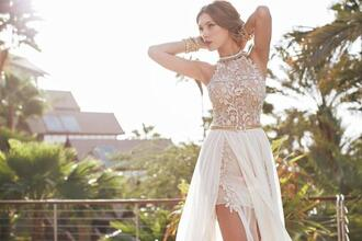 dress julie vino high neck  beach wedding dresses summer bridal dresses beach wedding