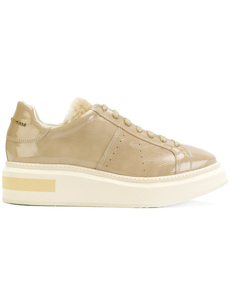 women sneakers platform sneakers leather nude shoes