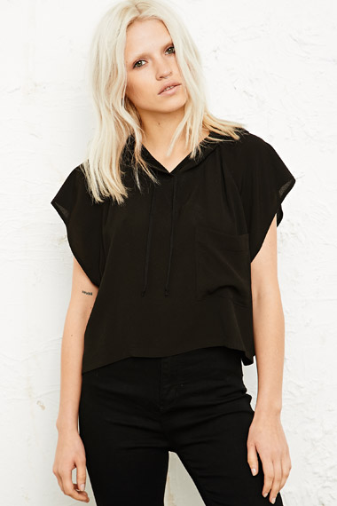 Silence   Noise Cropped Muscle Hoodie - Urban Outfitters - Shufflehub
