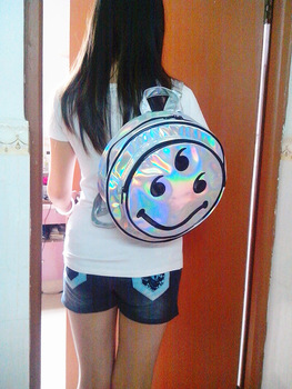 Aliexpress.com : Buy 2014 Silver Hologram backpack Trend Of  Fashion Street Backpack Laser Reflective Handbag Mirror Surface Backpack from Reliable backpack hooks suppliers on Online Store 935693