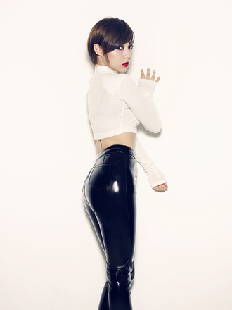 pants leather vinyl shiny black sexy high waisted jeans miss a hush miss a hush kpop plastic leather pants tight