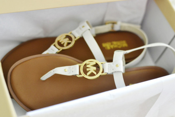 shoes, brand, sandals, white, gold