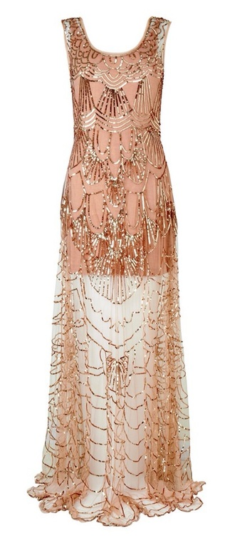dress the great gatsby prom dress long prom dress beaded dress nude dress peach dress