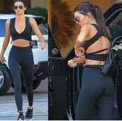 leggings,black leggings,fitness,nike,black,fashion,kendall jenner,model off-duty