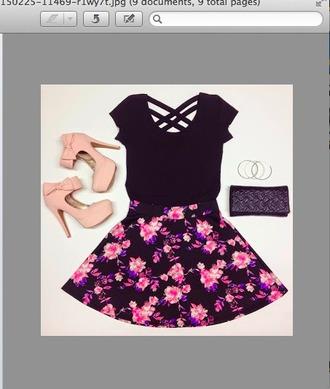 dress black dress maxi skirt high heels