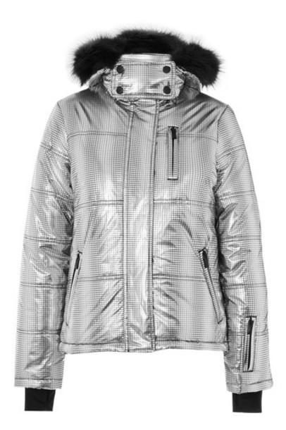 Topshop jacket puffer jacket silver