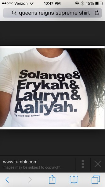 white t-shirt aaliyah solange knowles