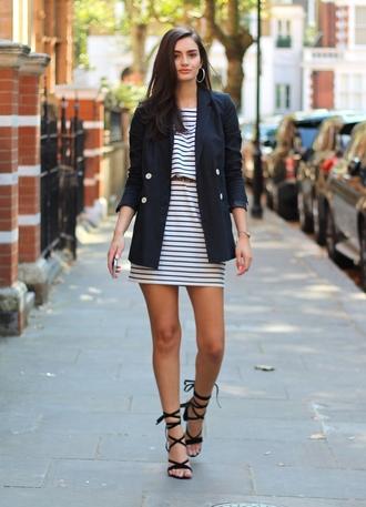 peexo blogger jacket dress belt shoes