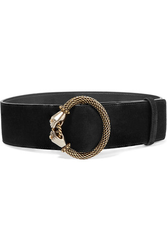 embellished belt waist belt suede black