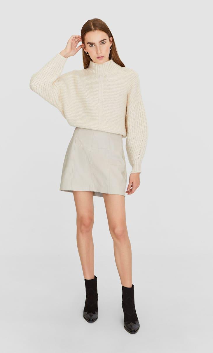 Round neck sweater - Women's Knitwear | Stradivarius United States