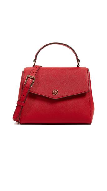 satchel red bag