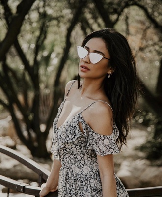 sunglasses sunnies cat eye cat-eyed sunglasses accessories accessory pretty little liars shay mitchell celebrity style celebrity
