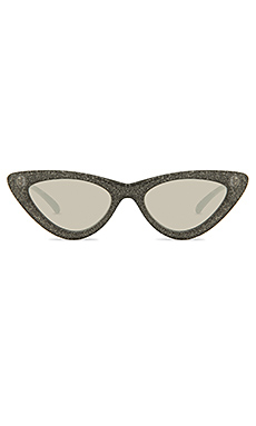 Le Specs x Adam Selman The Last Lolita Limited Black Glitter from Revolve.com