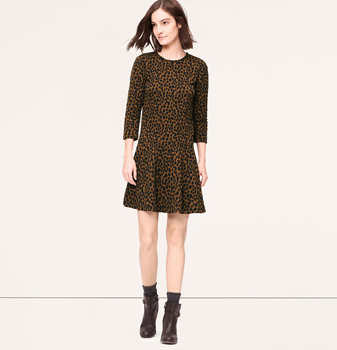 Abstract Animal Print Mini Dress