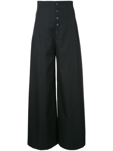 Le Ciel Bleu high women black wool pants