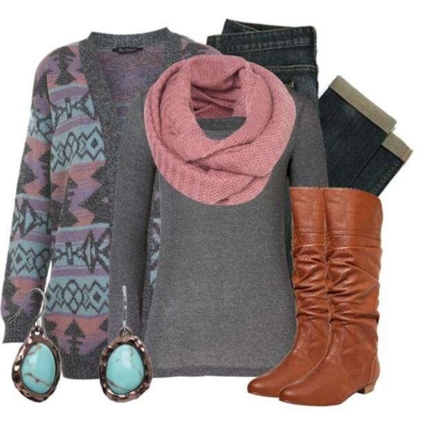 sweater aztec cardigan tribal pattern