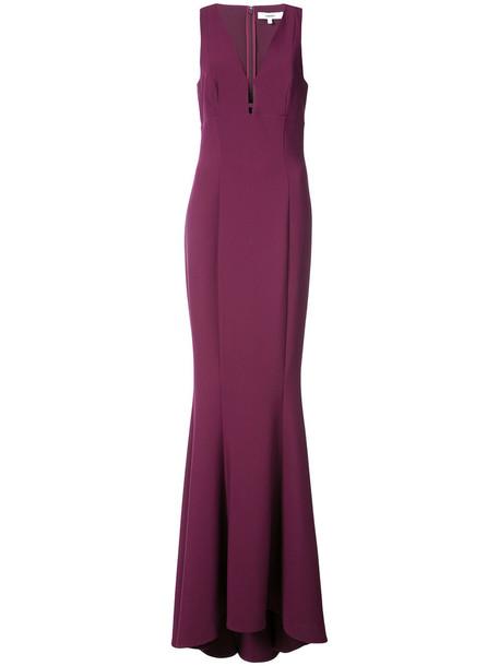 gown women spandex purple pink dress