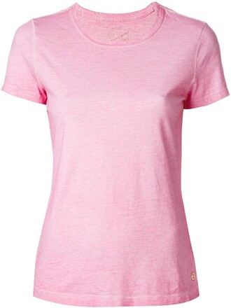 t-shirt shirt women classic cotton purple pink top