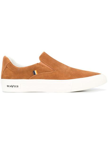 women sneakers suede brown shoes