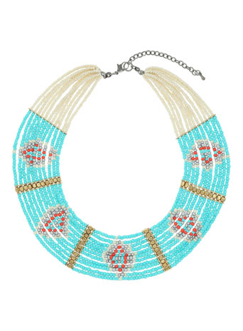 Turquoise Beaded Collar - Jewellery - Accessories