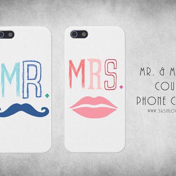 Cute Matching Couple Mr Mrs Couple Phone Case, iPhone 4/4S on Wanelo