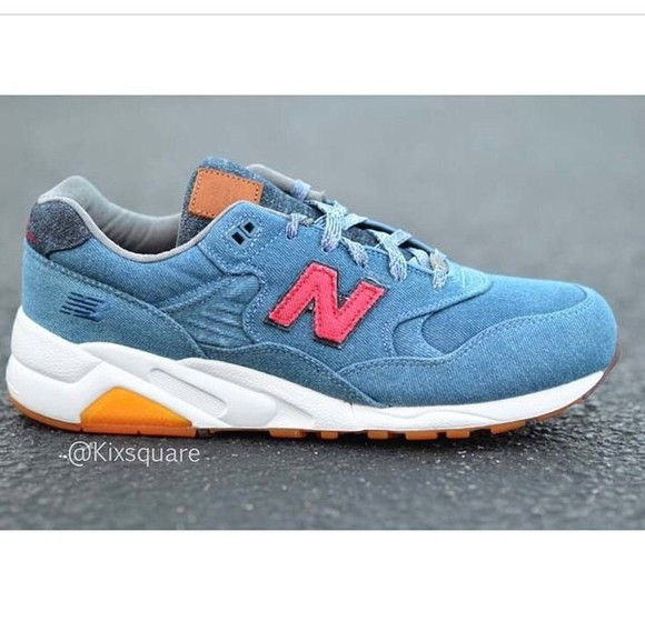 shoes sneakers new balance denim