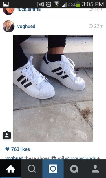 shoes adidas white black classics