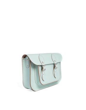 Leather Satchel Company | The Leather Satchel Company 11'' Mint Green Satchel at ASOS