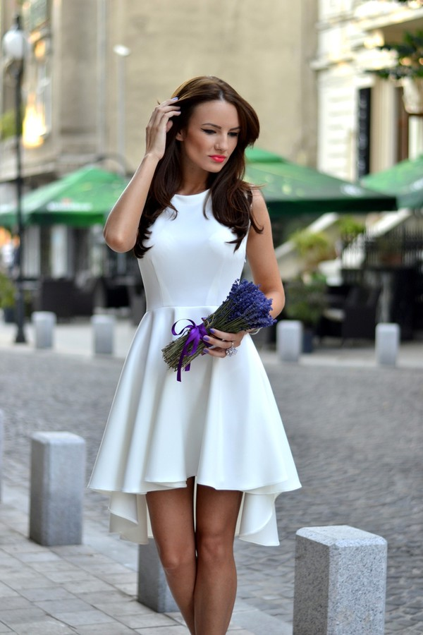 my silk fairytale shoes jewels dress white high and low skater dress white dress