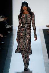 dress,leopard print,jacquard,zip,long sleeves,bandage dress,maxi dress,a line dress