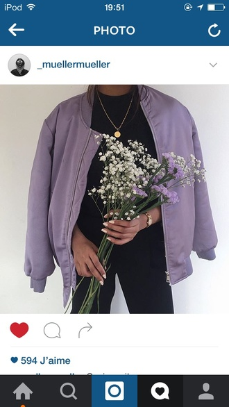 jacket bomber jacket purple bomber purple purple jacket style fashion mauve veste mode h&m beautiful