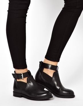 ASOS | ASOS ASCOT Leather Cut Out Ankle Boots at ASOS