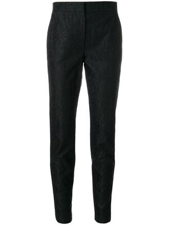 women lace black pants
