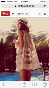 swimwear,swim suit cover up,cover up,hat