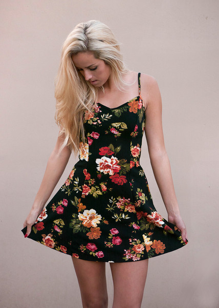 Floral sweetheart skater dress – desert rose apparel