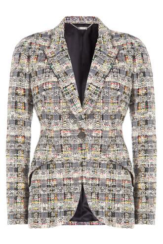 blazer cotton wool multicolor jacket