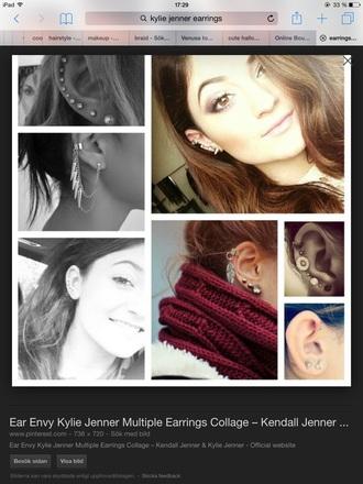 jewels jewelry earrings ear cuff kylie jenner kylie jenner jewelry
