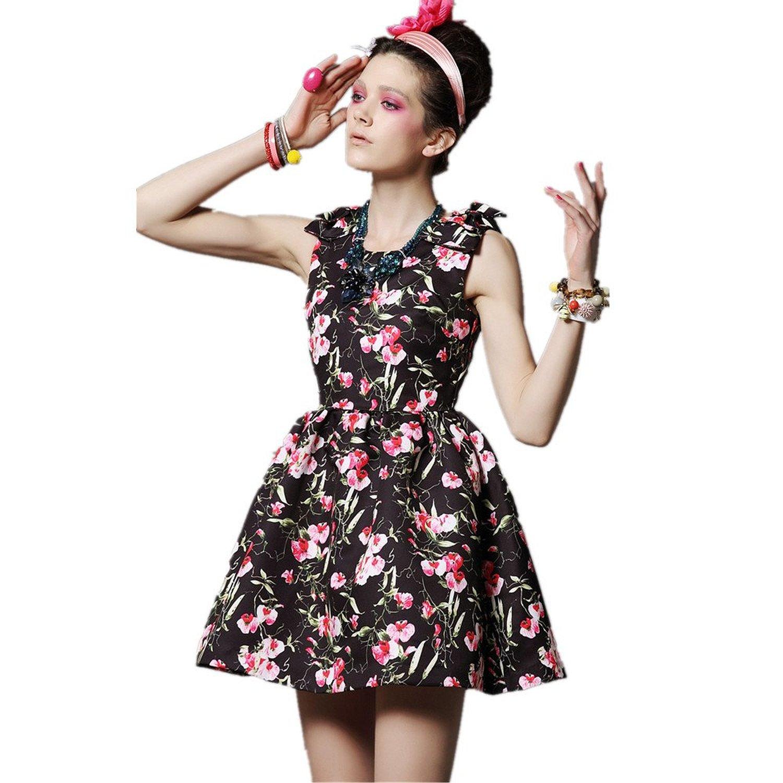 Lana hua new arrival women's sleeveless women vintage ball cocktail swing dress at amazon women's clothing store: