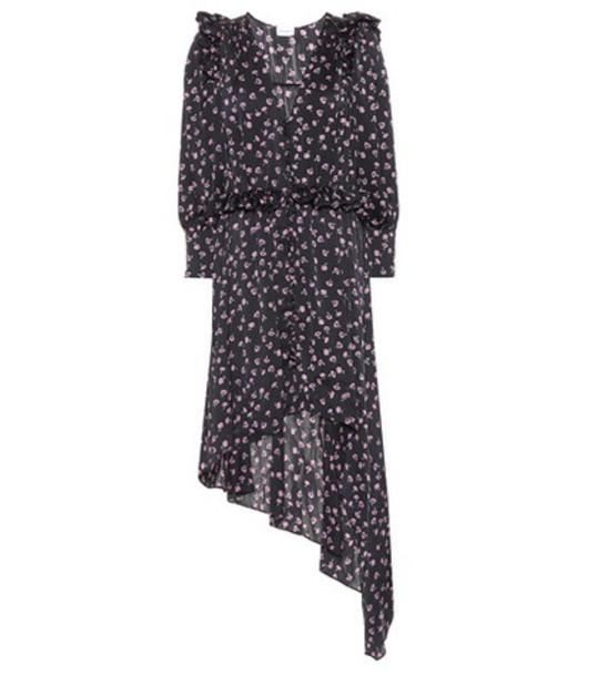 Magda Butrym Tarragona printed silk dress in black