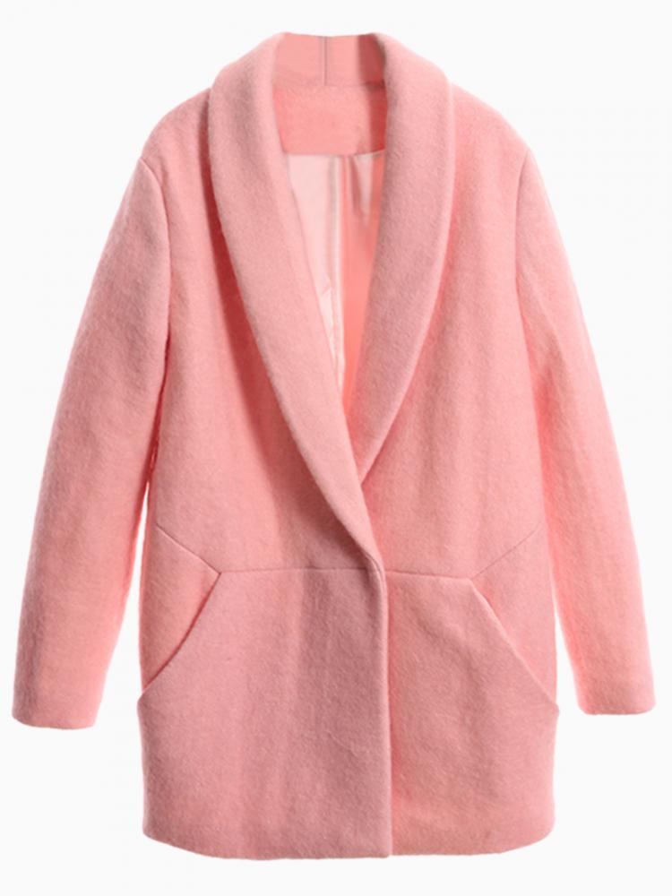 Lapel Coat | Choies