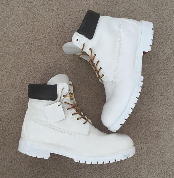 Shoes: tumblr, white, gold, timberland - 89.6KB