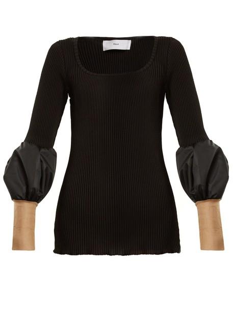 Toga sweater mesh knit black