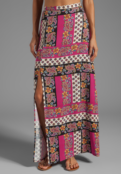 MINKPINK Princess of Persia Maxi Skirt with Slits in Multi at Revolve Clothing - Free Shipping!
